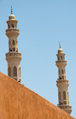 El Mina Mosque Minarets Against Blue Sky