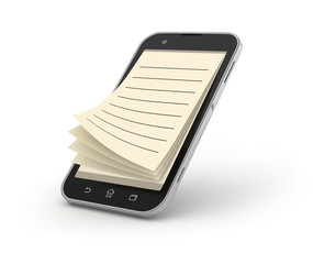 Smartphone notepad.
