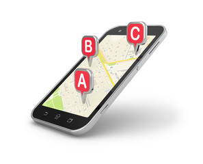 Smart phone mobile navigation.