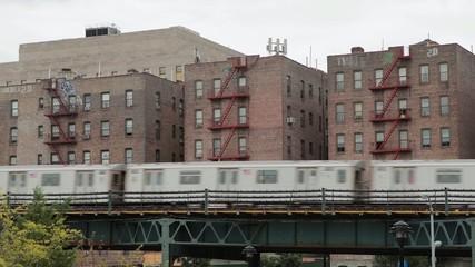 New York City Subway train in bronx