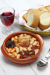fabada asturiana, spanish white bean stew