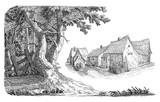 Village illustration - 70259420