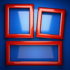 red and blue metal background