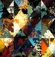 Grunge geometric pattern.