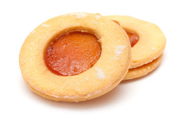 traditional canarian biscuits of butter and apricot jam