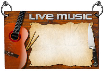 Live Music and Food Menu