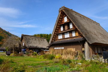 Historic Village of Shirakawa-go in autumn