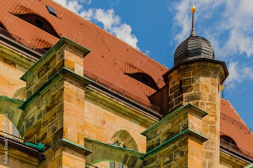canvas print picture Kirche mit Turm und Schiff