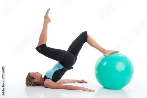Tuinposter Gymnastiek Pilates