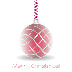 Merry christmas greeting card with christmas ball