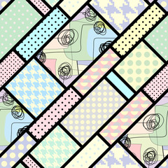 Retro geometric pattern.