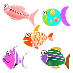 Petits poissons colorés