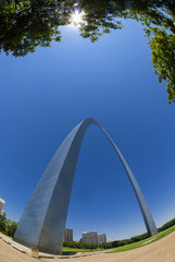 Gateway arch in St. Louis, USA