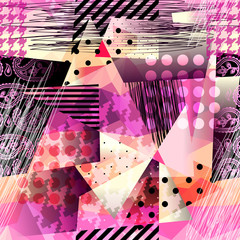 Grunge pattern in cubism style.
