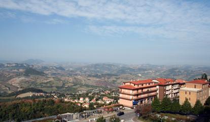 Сан Марино с высоты птичьего полета