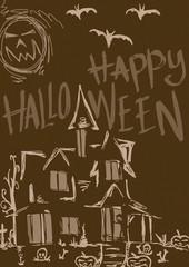 Halloween house vintage