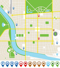 Citymap with marker icons