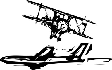 Woodcut Airplanes