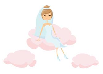 Свадьбы невеста в любви, вектор