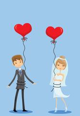 Свадебные фотографии, жених и невеста в любви, вектор