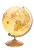 vintage world map globe glowing poster
