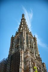 Ulmer Munster (Minster) tower in Ulm, Germany