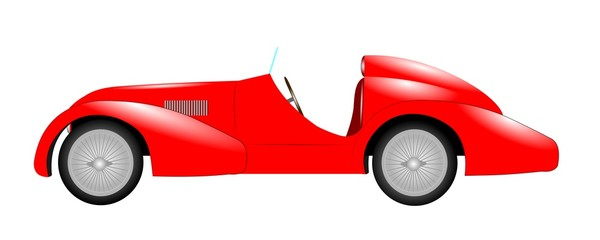 red sports car
