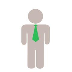 ネクタイをしたグレーの人のイラスト