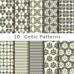 set of ten Celtic patterns