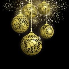 Black and Gold Christmas Balls