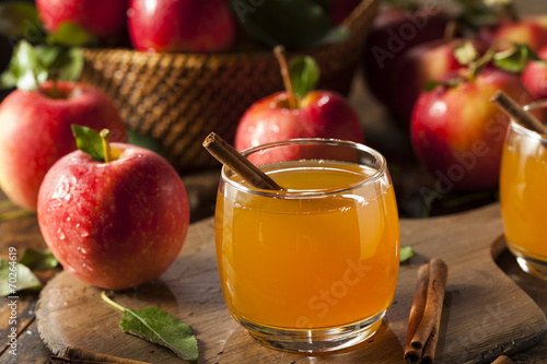 Foto op Canvas Bier / Cider Organic Apple Cider with Cinnamon