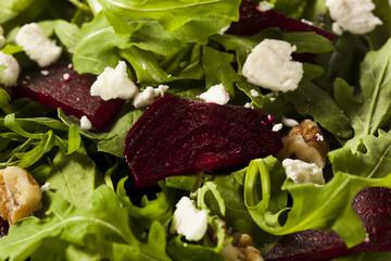 Raw Green Beet and Arugula Salad