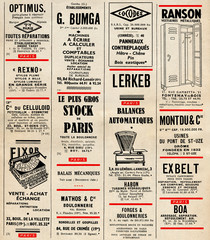 Vintage french ads