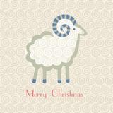 Christmas sheep on a light background