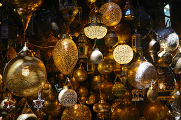 Shaining moroccan lamps