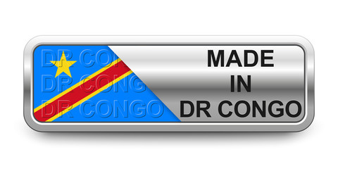 Made in DR Congo Button