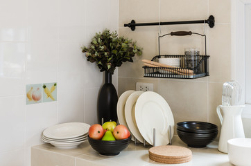 kitchen corner with utensil on counter