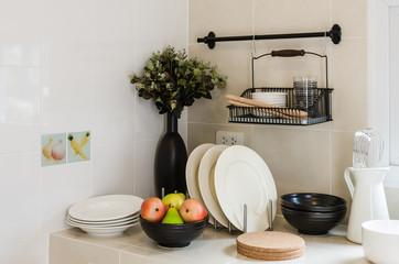 kitchen corner with utensil on counter