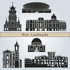 Nice landmarks and monuments