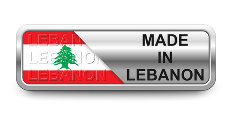 Made in Lebanon Button