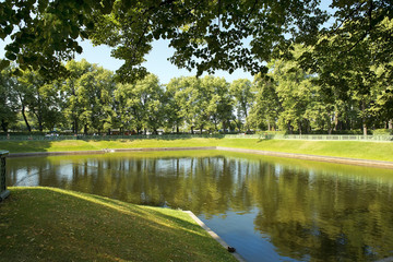 pond in the Summer Garden, Saint Petersburg, Russia