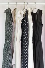row of dress hanging