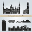 Постер, плакат: Zaragoza landmarks and monuments