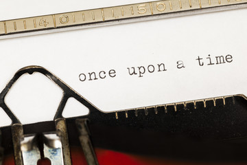 Once upon a time written on old typewriter.