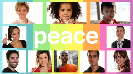 peace, people of different racial and ethnic backgrounds