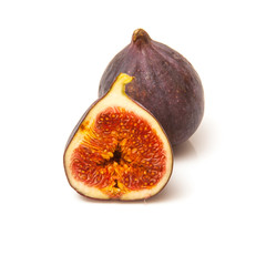 Fresh turkish figs isolated on a white studio background.
