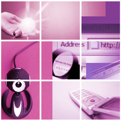 Colorful communication collage.