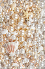 background of pearls