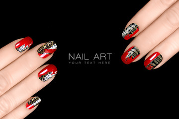 Leopard and Tiger Nail Art. Nail Polish Stickers. Animal Print