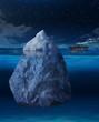 Ocean liner approaching iceberg